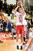 DESCRIZIONE : Reggio Emilia Campionato Lega A 2015-16 Grissin Bon Reggio Emilia Consultinvest Pesaro<br /> GIOCATORE : Marco Ceron<br /> CATEGORIA : Riscaldamento Before Pregame<br /> SQUADRA : Consultinvest Pesaro<br /> EVENTO : Campionato Lega A 2014-15<br /> GARA : Grissin Bon Reggio Emilia Consultinvest Pesaro<br /> DATA : 01/11/2015<br /> SPORT : Pallacanestro <br /> AUTORE : Agenzia Ciamillo-Castoria/A.Giberti<br /> Galleria : Campionato Lega A 2015-16  <br /> Fotonotizia : Reggio Emilia Campionato Lega A 2015-16 Grissin Bon Reggio Emilia Consultinvest Pesaro<br /> Predefinita :