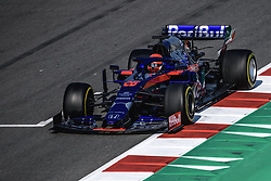 March 1, 2019 - Barcelona, Catalonia, Spain - DANIIL KVYAT (RUS) from team Toro Rosso drives in his STR14 during day eight of the Formula One winter testing at Circuit de Catalunya (Credit Image: © Matthias OesterleZUMA Wire)