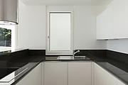 Interior, empty domestic kitchen of a modern apartment