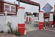 Landscape of the Forresters Pub, a long-standing business featuring 'exotic dancing ladies' on the Eastern Esplanade at Southend-on-Sea, Essex.