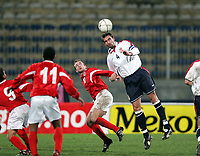 Fotball, 9. februar 2005, Malta, Privatkamp, Malta - Norge, Claus Lundekvam, Norge
