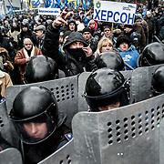 manifestation à Kiev, ukraine le dimanche 8 décembre 2013. Manifestants pro Ianoukovitch.