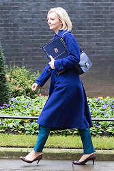 Downing Street, London, December 13th 2016. Justice Secretary and Lord Chancellor Liz Truss arrives at the weekly meeting of the cabinet at Downing Street, London.