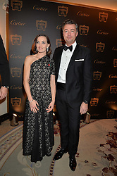 VICTORIA PENDLETON and LAURENT FENIOU MD of Cartier UK at the 26th Cartier Racing Awards held at The Dorchester, Park Lane, London on 8th November 2016.