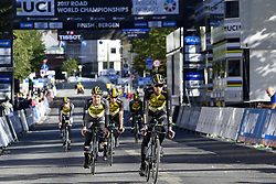 September 16, 2017 - Bergen, Norway - BERGEN, NORWAY - SEPTEMBER 16 : CAMPENAERTS Victor (BEL) Rider of Team Lotto NL - Jumbo pictured during the reconnaisance of the Team Time Trial 2017 World Road Championship cycling race on September 16, 2017 in Bergen, Norway, 16/09/2017 (Credit Image: © Panoramic via ZUMA Press)