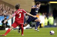 Photo: Olly Greenwood.<br />Southend United v Carlisle United. Coca Cola League 1. 27/10/2007. Southend's Alan McCormack bursts past Carlisle's Zigor Aranalde