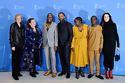 Producer Gail Egan, casting director Alexa Fogel, author William Kamkwamba, director Chiwetel Ejiofor, actress Aissa Maiga, actor Maxwell Simba and producer Andrea Calderwood attending The Boy Who Harnessed The Wind Photocall as part of the 69th Berlin International Film Festival (Berlinale) in Berlin, Germany on February 12, 2019. Photo by Aurore Marechal/ABACAPRESS.COM