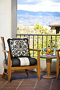 Master Bedroom Balcony with Outdoor Furniture and View of Mountains