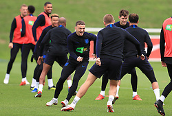 England's Kieran Trippier (centre) and Eric Dier during the training session at St Georges' Park, Burton. PRESS ASSOCIATION Photo. Picture date: Monday September 10, 2018. See PA story SOCCER England. Photo credit should read: Mike Egerton/PA Wire. RESTRICTIONS: Use subject to FA restrictions. Editorial use only. Commercial use only with prior written consent of the FA. No editing except cropping.