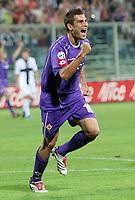Firenze 20/09/2006<br /> Campionato Italiano Serie A 2006/07<br /> Fiorentina-Parma 1-0<br /> L'esultanza di Adrian Mutu dopo il gol dell'1-0<br /> Foto Luca Pagliaricci Inside