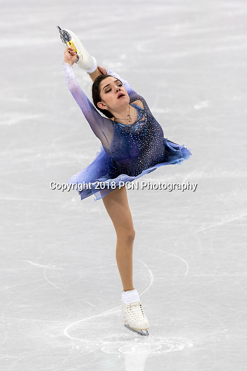 Evgenia Medvedeva (OAR) competing in the Figure Skating - Ladies' Short at the Olympic Winter Games PyeongChang 2018