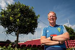 May 29, 2018 - BÅ'Stad, Sverige - 180529 Lars Jacobsson, bevakare poserar fÅ¡r ett portrÅtt under en presstrÅff med ledarstaben i Sveriges fotbollslandslag den 29 maj 2018 i BÅ'stad  (Credit Image: © Petter Arvidson/Bildbyran via ZUMA Press)