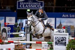 WERNKE Jan (GER), Christa<br /> Preis der fair ground GmbH<br /> Int. jumping competiton against the clock (1,35-1,40m) - CSIYH1*<br /> Braunschweig - Classico 2020<br /> 06.03.20<br /> © www.sportfotos-lafrentz.de/Stefan Lafrentz