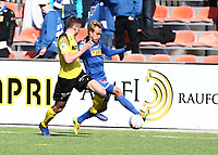 Fotball ,  OBOS-Ligaen<br /> 07.04.19<br /> Nammo Stadion<br /> Raufoss v Sandefjord  0-2<br /> Foto :  Dagfinn Limoseth , Digitalsport<br /> Lars Pontus Engblom , Sandefjord og Marius Svanberg Alm , Raufoss