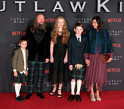 Outlaw King Premiere, Edinburgh, Friday 19th October 2018<br /> <br /> Outlaw King is a Netflix film and follows 14th century Scottish king Robert the Bruce prior to his coronation and through to his rebellion against the English, who at the time were occupying Scotland.<br /> <br /> Stars, crew and guests appear on the red carpet for the Scottish premiere.<br /> <br /> Pictured: Director David Mackenzie and family<br /> <br /> Alex Todd | Edinburgh Elite media
