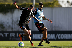 July 17, 2018 - SãO Paulo, Brazil - SÃO PAULO, SP - 17.07.2018: TREINO DO CORINTHIANS - Jonathas and Léo Santos during the training of Corinthians held at CT Dr. Joaquim Grava, East Zone of São Paulo. The team prepares for the confrontation against Botafogo, valid for the 13th round of the 2016 Brasileirão. (Credit Image: © Marco GalvãO/Fotoarena via ZUMA Press)