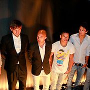 NLD/Amsterdam/20110420 - Presentatie nieuwe editie L' Homme, Linda de Mol , Demi de Zeeuw, Evgeny Levchenko, Marc Verschuren, Jeffrey wammes en John van Lottum