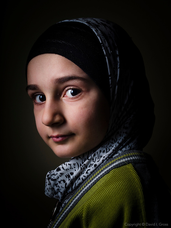 Syrian refugee child at a the Friendship Syrian school.