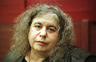 Radical feminist author Andrea Dworkin pictured at the Edinburgh International Book Festival where she made controversial statements about paedophiles and called for a country soley reserved for women.......