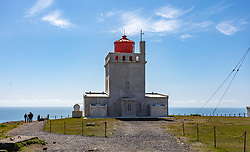 THEMENBILD - Leuchtturm auf dem Felsen Dyrholaey, aufgenommen am 09. Juni 2019 in Island // Lighthouse on the rock Dyrholaey, Iceland on 2019/06/09. EXPA Pictures © 2019, PhotoCredit: EXPA/ Peter Rinderer