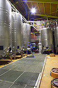 stainless steel tanks le cellier des princes chateauneuf du pape rhone france