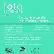 Exposición 7 Memorias Elementales.<br /> <br /> Víctor Santamaría.