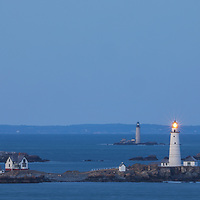 New England lighthouse photography of Boston Light and Graves Light at twilight. These two iconic Massachusetts lighthouses are located of the Hull, MA coast marking entry to the Boston Harbor.<br /> <br /> Iconic New England lighthouses photography images are available as museum quality photography prints, canvas prints, acrylic prints, wood prints or metal prints. Fine art prints may be framed and matted to the individual liking and interior design project decorating needs:<br /> <br /> https://juergen-roth.pixels.com/featured/boston-light-and-graves-light-juergen-roth.html<br /> <br /> Good light and happy photo making!<br /> <br /> My best,<br /> <br /> Juergen<br /> Photo Prints: http://www.rothgalleries.com<br /> Photo Blog: http://whereintheworldisjuergen.blogspot.com<br /> Instagram: https://www.instagram.com/rothgalleries<br /> Twitter: https://twitter.com/naturefineart<br /> Facebook: https://www.facebook.com/naturefineart