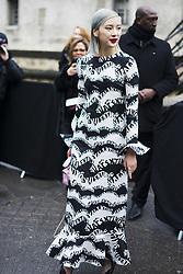 March 4, 2018 - Paris, France - Irene Kim is seen on the street attending Valentino during Paris Women's Fashion Week A/W 2018 wearing Valentino on March 4, 2018 in Paris, France. (Credit Image: © Nataliya Petrova/NurPhoto via ZUMA Press)