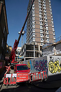 Redevelopment work which many would call gentrification going on in Soho, London, England, United Kingdom.