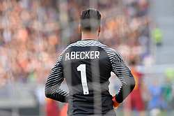 April 7, 2018 - Rome, Italy - Alisson Becker during the Italian Serie A football match between A.S. Roma and ACF Fiorentina at the Olympic Stadium in Rome, on april 07, 2018. (Credit Image: © Silvia Lore/NurPhoto via ZUMA Press)