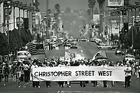 1975 Christopher Street West's entry in the Gay Pride Parade on Hollywood Blvd.