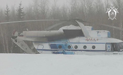 March 22, 2019 - Today, a helicopter MI-8 of airline YAMAL, carrying out flight ''Nadym-Nori-Nyda-kutop'yugan-Nadym'' made a hard landing in the village of Nori. As a result of the helicopter broke off the tail. On Board were 3 crew members and 20 passengers, anybody from them has not suffered. RF Investigative Committee via globallookpress.com (Credit Image: © Russian Look via ZUMA Wire)