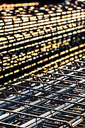 rebar for concrete forms on construction site