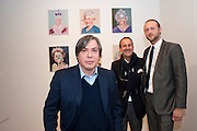 GEORGE CONDO; SIMON LEE; LORD EDWARD SPENCER-CHURCHILL, George Condo: Mental States. Hayward Gallery. Southbank Rd. London. 17 October 2011. <br /> <br />  , -DO NOT ARCHIVE-© Copyright Photograph by Dafydd Jones. 248 Clapham Rd. London SW9 0PZ. Tel 0207 820 0771. www.dafjones.com.