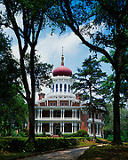 Longwood, the largest octagonal house in America, built beginning in 1860 for Haller and Julia Nutt by architect Samuel Sloan, but never completed due to the Civil War, Natchez, Mississippi.  Longwood is a National Historic Landmark maintained by the Pilgrimage Garden Club.