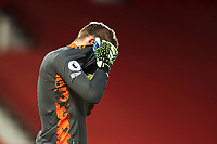 Football - 2020 / 2021 Premier League - Manchester United vs Everton - Old Trafford<br /> <br /> Manchester United goalkeeper David De Gea shows a look of dejection at the final whistle <br /> <br /> COLORSPORT/PAUL GREENWOOD