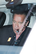 ARNOLD SCHWARZENEGGER LEAVES HOTEL GEORGE V AFTER INTERVIEW FOR TERMINATOR GENISYS<br /> ©Exclusivepix Media