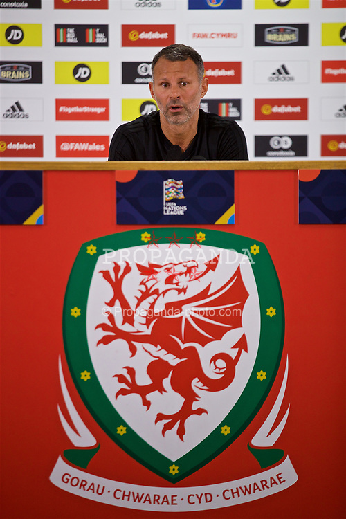 CARDIFF, WALES - Wednesday, September 5, 2018: Wales' manager Ryan Giggs during a press conference at the Cardiff City Stadium ahead of the UEFA Nations League Group Stage League B Group 4 match between Wales and Republic of Ireland. (Pic by David Rawcliffe/Propaganda)