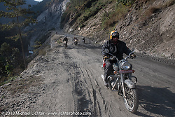 Rip Rolfsen on Day-7 of our Himalayan Heroes adventure riding from Tatopani to Pokhara, Nepal. Monday, November 12, 2018. Photography ©2018 Michael Lichter.