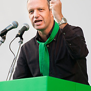 "Umberto Tosi speaks  at Lega Nord rally today in Venice under the slogan ""Prima Il Nord""  (North First)  the Lega Nord with its new Secretary Roberto Maroni are trying to go back to their  1996 meeting in Venice with its original federalist credo"