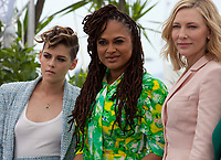 Jury members Kristen Stewart, Jury President Cate Blanchett, Ava DuVernay, at the Jury photo call at the 71st Cannes Film Festival Tuesday 8th May 2018, Cannes, France. Photo credit: Doreen Kennedy