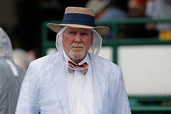 May 4, 2019 - Louisville, KY, U.S. - LOUISVILLE, KY - MAY 04: Fans had to done their rain gear prior to the 145th running of the Kentucky Derby on May 4, 2019 at Churchill Downs, in Louisville, KY.(Photo by Jeffrey Brown/Icon Sportswire) (Credit Image: © Jeffrey Brown/Icon SMI via ZUMA Press)