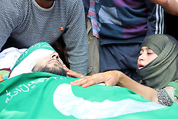September 11, 2017 - Kulgam, Jammu and Kashmir, India - Funeral procession of Dawood Illahi Khan in Hawoora village. Thousands attend last rites of slain militant. Two militants were killed and one OGW was arrested during gun fight with forces in Kulgam. (Credit Image: © Muneeb Ul Islam/Pacific Press via ZUMA Wire)