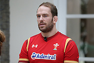Alun Wyn Jones ,the Wales captain looks on. RBS Six Nations 2017 media launch at the Hurlingham Club, Ranelagh Gardens in London on Wednesday 25th January 2017.<br /> pic by John Patrick Fletcher, Andrew Orchard sports photography.