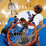 Anadolu Efes's Stephane Lasme (L) during their Turkish Airlines Euroleague Basketball Group A Round 3 match Anadolu Efes between Zalgiris Kaunas at Abdi ipekci arena in Istanbul, Turkey, Thursday, October 30, 2014. Photo by Aykut AKICI/TURKPIX