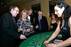 Gambling at poker for fun at Charity Ball Lancashire UK
