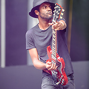 WASHINGTON, DC - July 4, 2015 - Gark Clark Jr. was the first act on stage after the weather delay at the Foo Fighters 20th Anniversary Blowout at RFK Stadium in Washington, D.C. (Photo by Kyle Gustafson / For The Washington Post)