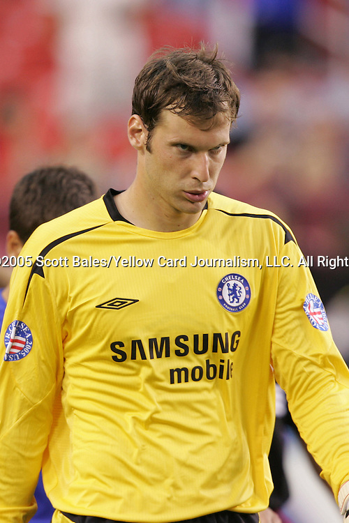 28 July 2005: Chelsea goalkeeper Petr Cech, pregame. Chelsea FC defeated DC United 2-1 at FedEx Field in Landover, Maryland in the 2005 World Series of Football.