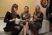 FRANKIE CHERRY; GEORGIA MCCANN; REBECCA HOSSACK The preview of LAPADA Art and Antiques Fair. Berkeley Sq. London. 21 September 2015.