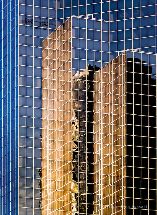 Architectural detail of Bellevue City Center building, Bellevue, Washington